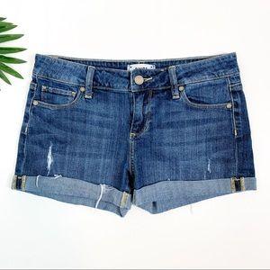 PAIGE Jimmy Jimmy Roll Up Cuffed Jean Shorts 26